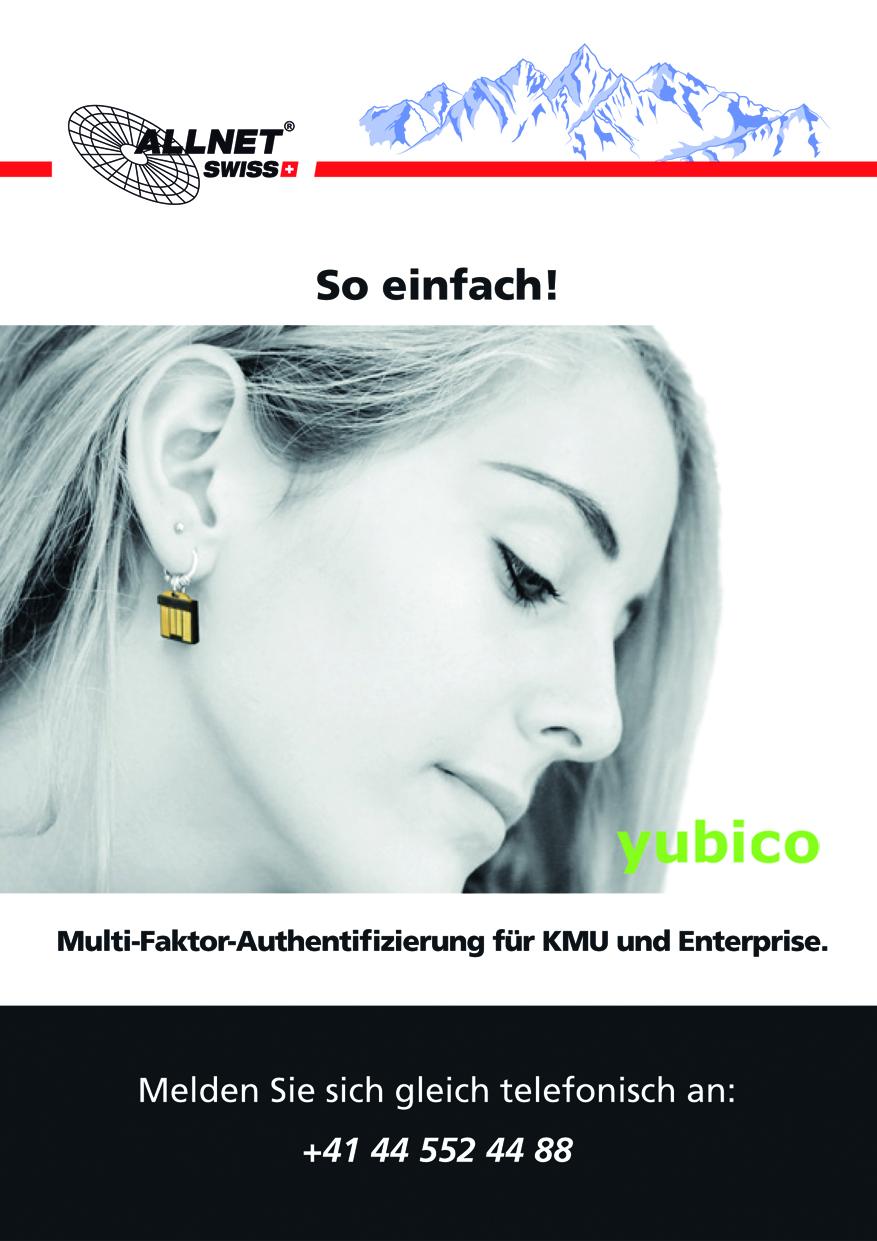 Multi-Faktor-Authentifizierung von Yubico für KMU und Enterprise in der Schweiz. Mit einem Tippen via Hardware-Tokens zu doppelter IT Sicherheit!